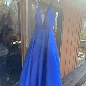 Royal Blue Ballgown Prom dress